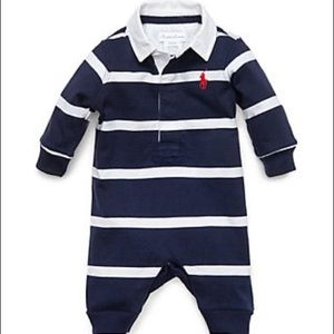 Ralph Lauren Baby Boy Rugby Striped Coverall